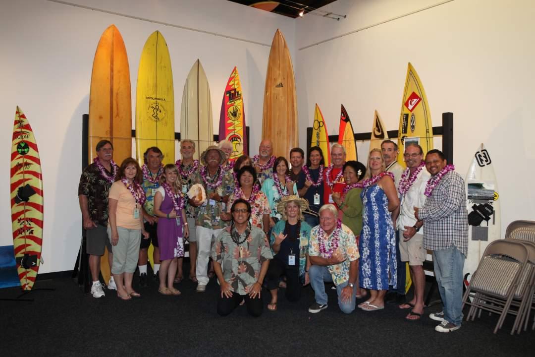 Aloha Party with Randy Rarick volunteers