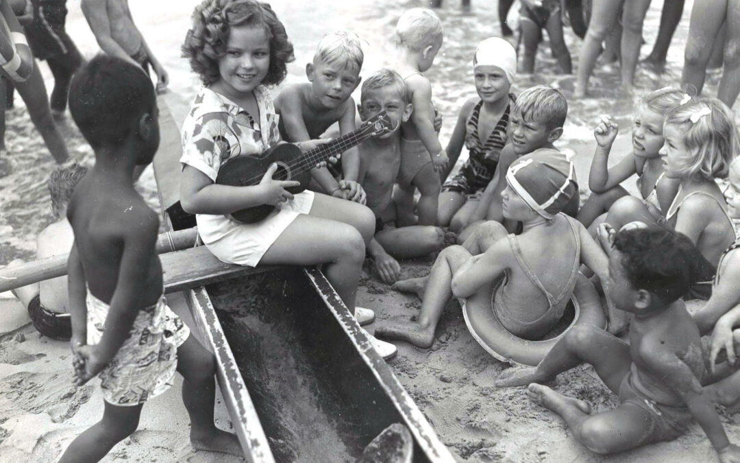 Depression Era Beach Hangs With Dick Metz And Shirley Temple
